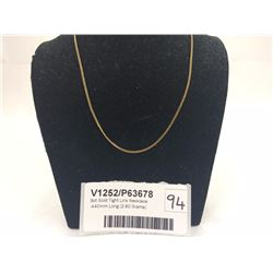 9ct Gold Tight Link Necklace -440mm Long (2.60 Grams)