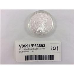2012 USA Silver Eagle 1oz Fine Silver Dollar Coin