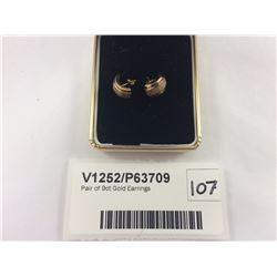 Pair of 9ct Gold Earrings