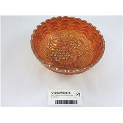 Early Marigold Carnival Ware Grape & Leaf Dish