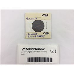 1768 Hungary Ein Greshl Bohemia Coin