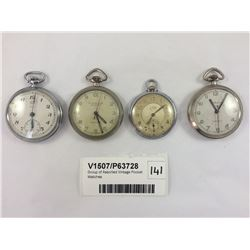 Group of Assorted Vintage Pocket Watches