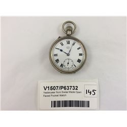 Yesteryear Noni Swiss Made Open Faced Pocket Watch