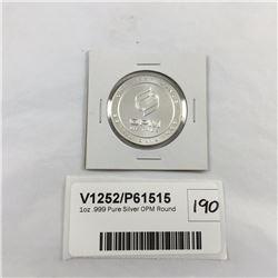 1oz .999 Pure Silver OPM Round