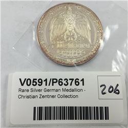 Rare Silver German Medallion - Christian Zentner Collection