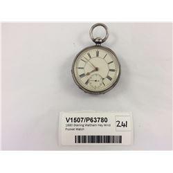 1880 Sterling Waltham Key Wind Pocket Watch