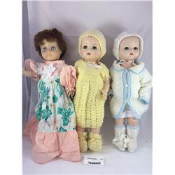 Group of Three NZ Made Pedigree Dolls