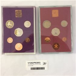 Two Great Britain UNC Coin Sets 1979 & 1980