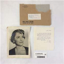 Original Olivia de Havilland Signed Photo & Signed Letter