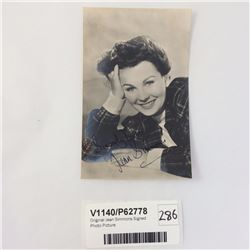 Original Jean Simmons Signed Photo Picture