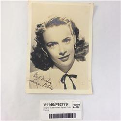 Original Susan Peters Signed Photo Picture