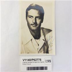 Original George Montgomery Signed Photo Picture