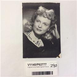 Original Anna Neale Signed Picture