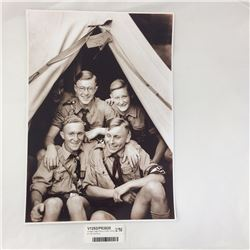 Vintage Large Photo of Hitler Youths at Training Camp
