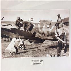 Vintage Large Photo of RAF Pilots Morning of The Battle