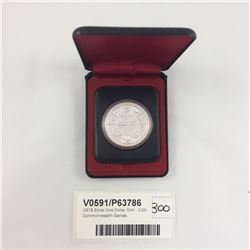 1978 Silver One Dollar Coin - 11th Commonwealth Games