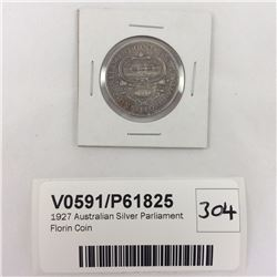 1927 Australian Silver Parliament Florin Coin