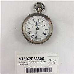 Vintage Amida Pocket Watch with Chrongraph