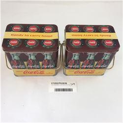 Two Collectable Coca-Cola Litho Tins