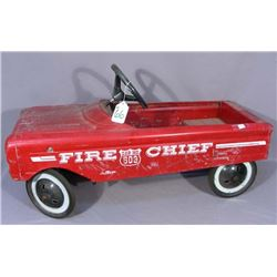 VINTAGE AMF FIRE CHIEF #503 RED PEDAL CAR