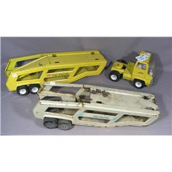 VINTAGE TONKA TRUCK WITH TWO CAR CARRIERS