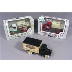 THREE ERTL MACK BULLDOG TRUCK BANKS