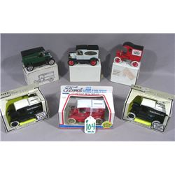 SIX MODEL T FORD DIE CAST METAL BANKS BY ERTL