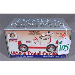 RARE 1920'S LITTLE DEBBIE PEDDLE RACE CAR BANK