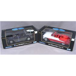 TWO WELLY 1:18 COLLECTIBLE DIE CAST CARS