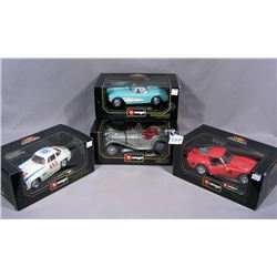 FOUR BURAGO 1:18 SPORTS CARS
