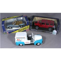THREE MISC. BRAND 1:18 DIE CAST VEHICLES