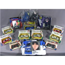 BOX LOT OF 14 PIECES OF RACING MEMORABILIA