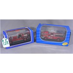 TWO AMERICAN MINT DIE CAST FIRE TRUCKS
