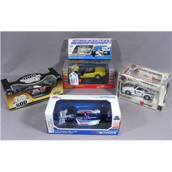 FIVE MISC. DIE CAST 1:24 SCALE RACE CARS