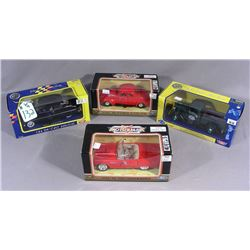 GROUP OF FOUR MOTOR MAX 1:24 SCALE DIE CAST CARS
