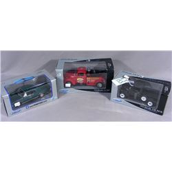 THREE WELLY DIE CAST 1:24 SCALE CARS