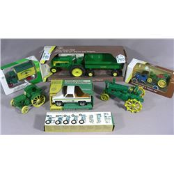 GROUP OF SEVEN MISC. JOHN DEERE TRACTORS AND
