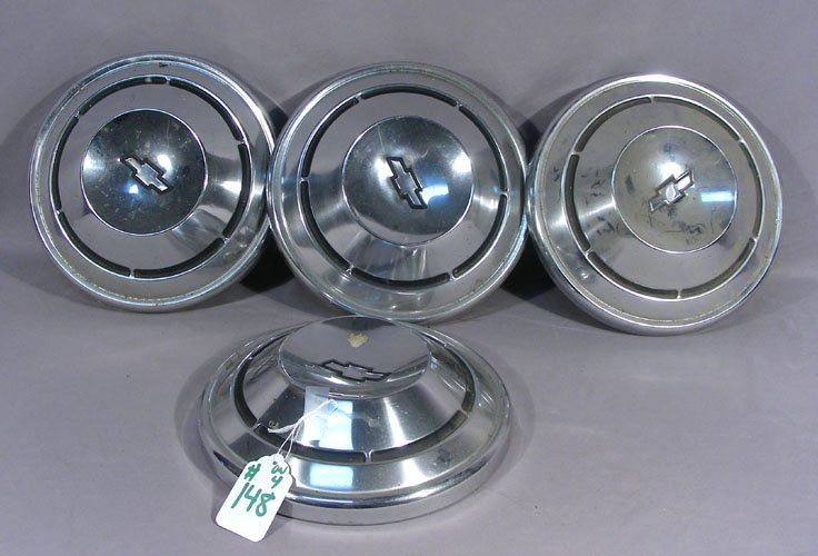 Set Of Four Vintage Chevy Nova Dog Dish Hubcaps