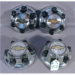 SET OF FOUR GENERAL MOTORS CENTER CAP WITH LUGS