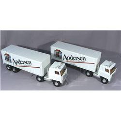 TWO ANDERSON WINDOWS SEMI TRUCKS