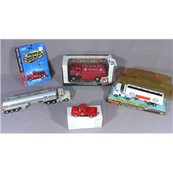 FIVE GAS STATION BRAND VEHICLES