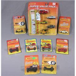 NINE MATCH BOX SUPER FAST & AUTO SUPER STAR COLLECTIBLE