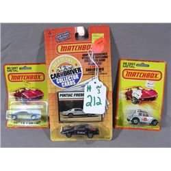 THREE MATCH BOX DIE CAST COLLECTERS CARS