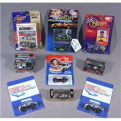 NINE DIE CAST MISC. RACING CARS