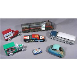 GROUP OF VINTAGE TIN TRANSPORTATION VEHICLES