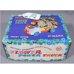 VINTAGE MARX BATTERY OPERATED FLOWER POWER TRUCK
