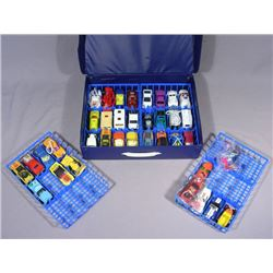 USED CASED SET OF 19 MATCH BOX & 18 HOT WHEELS CARS