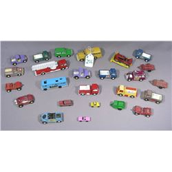 GROUP OF MANY VINTAGE TOOTSIE DIE CAST METAL CARS