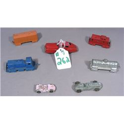 SIX MEDAL DIE CAST MIDGET CARS & SIE CAR