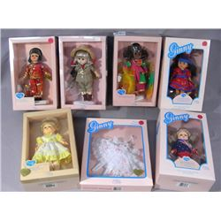 GROUP OF SEVEN VOGUE DOLL  GINNY  DOLLS AND OUTFIT